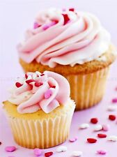PINK CUPCAKES BAKING FOOD KITCHEN PHOTO ART PRINT POSTER PICTURE BMP2079A