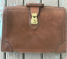 Vintage Leather Briefcase Lewis Lifton 1948 Pat 2474003 Professor Owned Rare