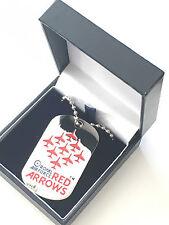RAF aeronautica Rosso Frecce Ciondolo in confezione regalo Prodotto Ufficiale