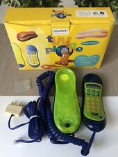vintage SWATCH TWIN phone Limelite Cored Telephone Original Cords & Box Works