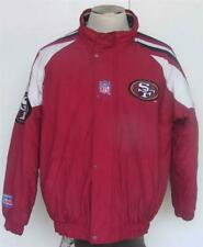 SF 49ers Coat Vtg Starter NFL Pro Line Retro Stripes Insulated Winter Jacket S M