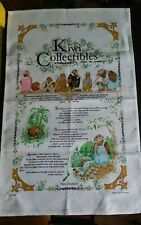 Vtg linen cotton tea towel Kiwi Collectibles New Zealand very cute graphics
