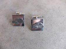 vintage 1960 VW Volkswagen Bug Employee Salesmen Award Cufflinks pin Cuff Links