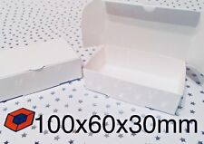 50 White Single slice Wedding CAKE favour/ Party boxes 100x60x30mm BARGAIN £3.33