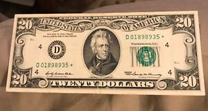 1969-A   STAR $20 Federal reserve note , Richmond district , VF / XF