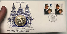 1981 ROYAL WEDDING Prince Charles & Princess Diana One Crown Coin Stamps  i65210