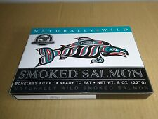 4 Boxes of 8 oz Alaska Smokehouse Smoked Wild Salmon Boneless Filet Ready to Eat