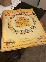 The Golden Dictionary 1030 Words 1050 Pictures First Edition 1944 Vintage Book