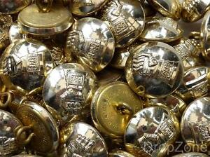 """British Army QC Large Staybrite Buttons 1"""" Royal Armoured Corps RAC, Approx 60"""