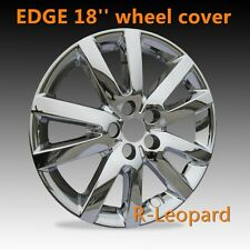 "4pcs CHROME EDGE 18"" Full Wheel Skins Hub Caps wheel Covers fits FORD EDGE rim"