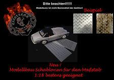 Modellbau / Airbrush Schablone 001 Riffelblech