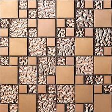 Fashion metal glass mosaic tile kitchen backsplash bathroom background wall tile
