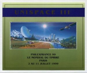 19676) United Nations (Geneve) 1999 MNH Space S/S Ovptd