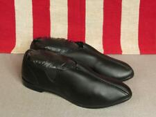 Vintage 1960s Black Mod Womens Shoes Slip On Flats Size 7.5 New Nos Nice!