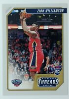 2019-20 Panini Threads Zion Williamson Rookie RC #78, New Orleans Pelicans