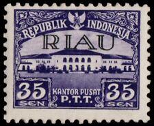 ✔️ INDONESIA RIAU 1954 - BANDUNG POSTOFFICE - ZBL. 8 ** MNH OG  [IDR008]