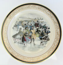 Lenox Currier & Ives Central Park, Winter, The Skating Pond Plate 10 5/8 Inch Di