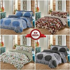 Quilted Duvet Bedding Set Double King Size 4 Piece Coverlet Floral Quilts Covers