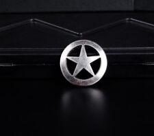 10PC 31 MM ANTIQUE SILVER WESTERN TEXAS STAR CONCHOS SCREWBACK FOR BELT HANDBAND