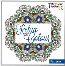 RELAX WITH COLOUR - ADULT COLOURING BOOK -  PATTERN