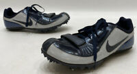 Nike Zoom Rival S 5 Mens Blue Grey Leather Mesh Track Spikes Size 6