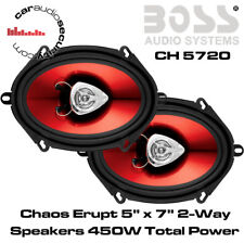 "FORD KA, Transit, Focus, Fiesta 5""x7"" 2 Way Coaxial Car Door Speakers 450W"