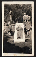 HEART-BREAKING POST MORTEM BABY CASKET MEXICAN FAMILY ~ 1939 VINTAGE PHOTO