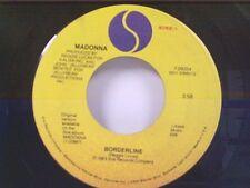 """MADONNA """"BORDERLINE / THINK OF ME"""" 45"""