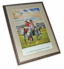 Framed Lt Ed '99 Denver Polo Classic Kay Witherspoon Signed BRUTE STRENGTH Litho