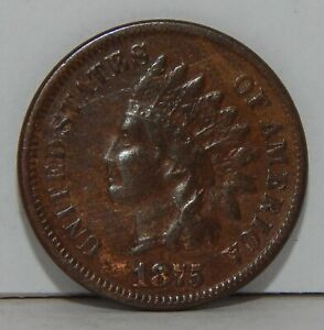 1875 Indian Head One Cent - 1¢