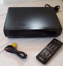 PANASONIC VHS VCR Super 4 Head AG-1260P Japan Pro Line W/Remote Bundled TESTED