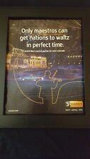 Andre Rieu Rare Original Solotech Promo Poster Ad Framed!
