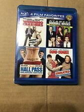 Wedding Crashers & Horrible Bosses & Hall Pass & Dumb Dumber Blu Ray - Sealed!