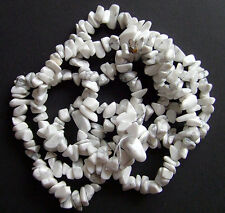 40pz  perline chips  in howlite bianca naturale  4-10mm bigiotteria