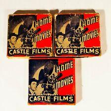 Lot of 3 Vintage 1940's 8mm Film Reels Ride 'em Cowboy Swimming Diving Vesuvius