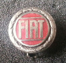 Fiat Brosche silbern rot emailliert 15mm gestempelt Lorioli Milano alt+original