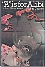 """""""A"""" IS FOR ALIBI (1982) Sue Grafton SIGNED Kinsey Millhone Mystery HC 3rd Print"""