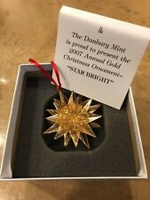 Danbury Mint Annual Gold Plated Collectable Christmas Ornament Star Bright 2007