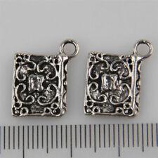 50Pcs Tibetan Silver  Book Charms Pendants 14x12mm