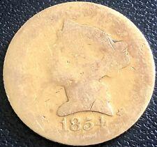 1854 D Half Eagle $5 Gold Liberty Head Rare Date DAHLONEGA Lowball Poor #20671