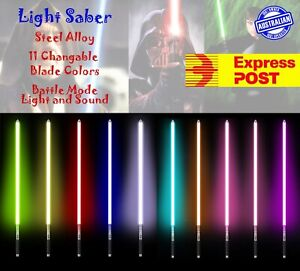 100CM Premium Metal Lightsaber Cosplay Light Saber Sound Vibration Battle Expres