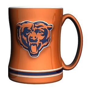 Chicago Bears NFL Orange 14 oz Ceramic Relief Mug