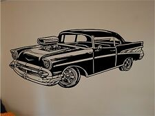 Chevy Bel Air  Vinyl Wall Sticker Mural 17.5 x 40  Vintage Cars