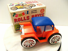 RARE Vtg WORKING BATTERY OPERATED TUMBLE CAR ROLLS ROYCE SK BOTOY STYLE