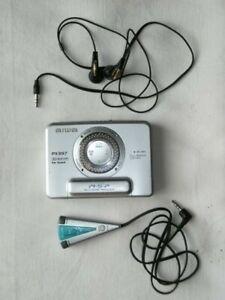 Aiwa Walkman Metal Case ~ Audio Cassette Player ~ PX397 ~ Spares repair + Remote