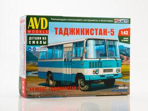 Tajikistan-5 bus Unassembled Kit AVD Models by SSM 1:43