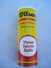 Nos - Wilson Championship Tennis Balls Vintage Sealed Metal Can. 3 Ball pack.