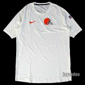 NIKE PRO BREATHE CLEVELAND BROWNS 1/2 SLEEVE FITTED SHIRT TEAM ISSUE PE XL