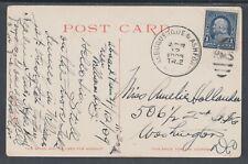 US Sc 264 on 1909 PPC to Washington, D.C., Albuquerque & Ashford RMS cancel