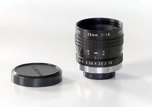 Objectif COSMICAR Television Lens 25mm F1.8C-mount